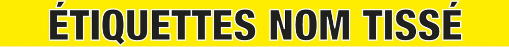 Les étiquettes Nom Tissé sont une solution idéal pour marquer vos vêtements.